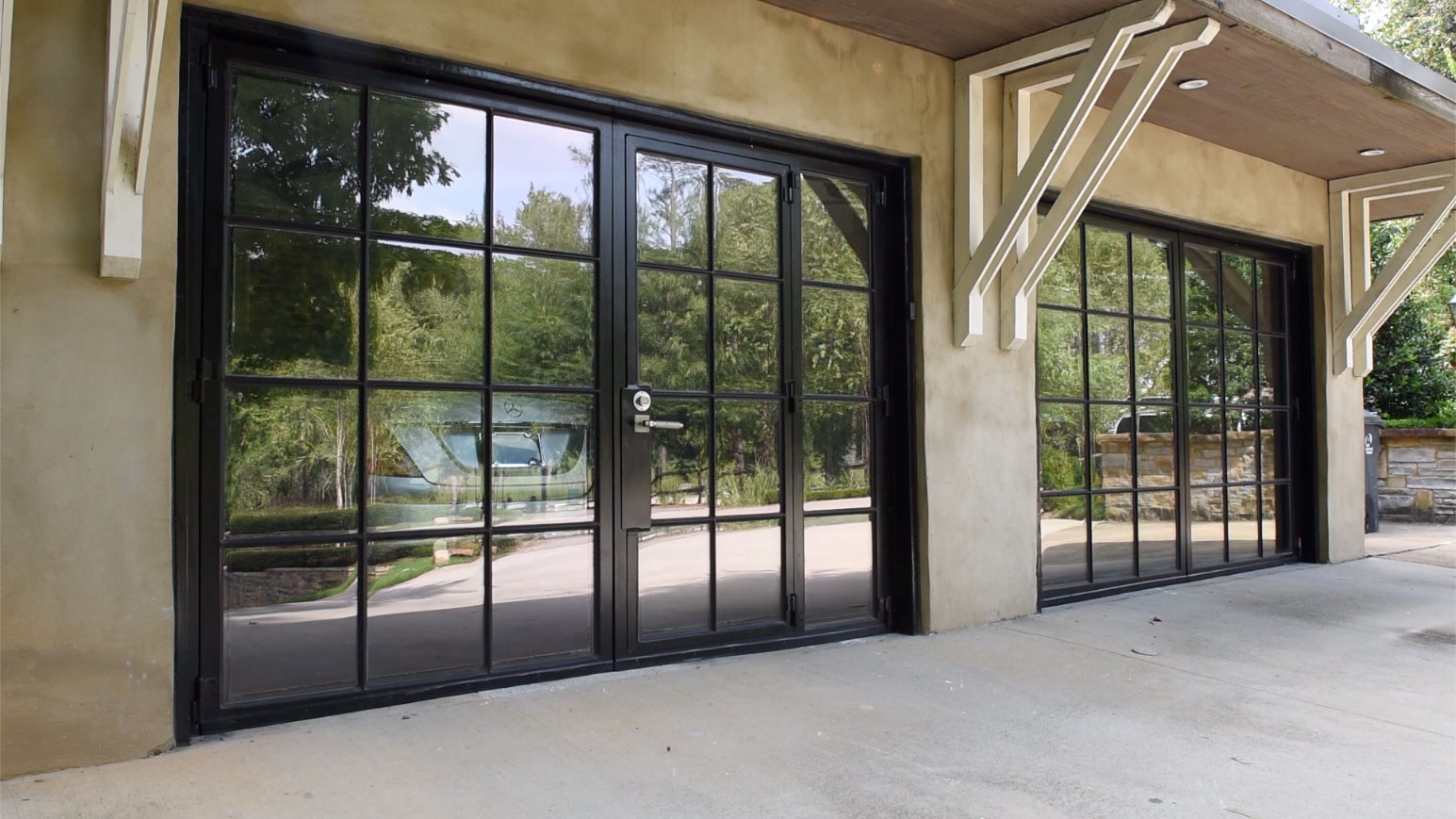 Out Swinging Carriage Garage Doors Bespoke Forged